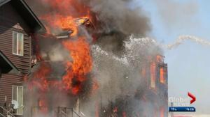 Blaze destroys townhouses in Elk Point, Alberta