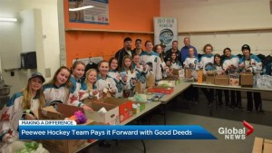Making a Difference – 10 peewee hockey teams across Canada being recognized for good deeds