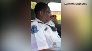Emotional sign off for officer after 30 years on job