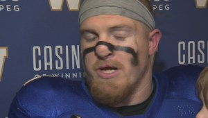 RAW: Blue Bombers Adam Bighill Post Game – Oct. 13