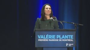 Valérie Plante speaks after winning election