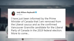 Wilson-Raybould and Philpott booted from Liberal caucus