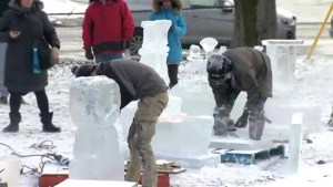 Ice sculptors showcase skills in Halifax