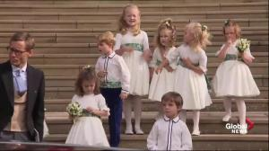 Royal children wave goodbye departing Princess Eugenie, Jack Brooksbank's wedding