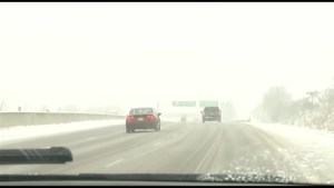 Inclement weather will leave roads and highways slippery