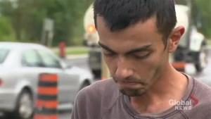 Catherine McDonald talks to man charged with impaired driving causing death following Richmond Hill crash