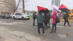 Protesters block entrances to Halifax's Canada Post plan