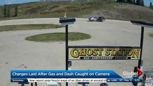 Charges laid after gas and dash caught on camera