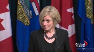 Premier Notley speaks about Jane Fonda visit, Trans Mountain approval