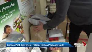 Canada Post delivering 1M holiday packages daily