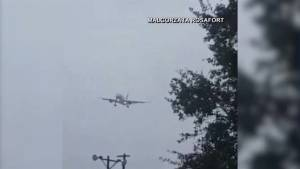 Plane pushed way off course by strong winds from Irma