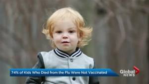 Majority of kids who died from the flu were not vaccinated: study (02:16)