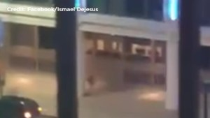 Cellphone video shows alleged Dallas shooting suspect