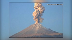 One of Mexico's most active volcanoes roars to life with two spectacular eruptions