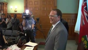 'It feels great to make history': Mike Schreiner sworn in as Ontario's first Green Party MPP