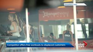 Competing fitness studio offers free workouts to customers of shuttered Toronto fitness club