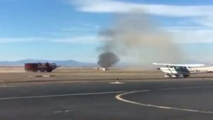 Aftermath of plane crashing at airshow in Oregon