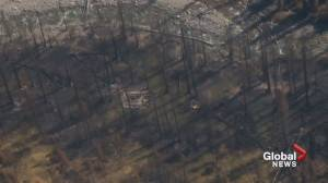 Aerial video shows first look at the Verdant Creek wildfire destruction