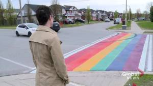 New rainbow crosswalk in Bowmanville vandalized