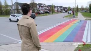 New rainbow crosswalk in Bowmanville vandalized