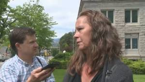 Marie Van Diest reacts to Matthew Foerster's second degree murder sentence