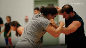 Syrian wrestling champion brings love of sport from refugee camp to Canada