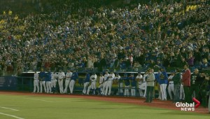 Blue Jays play Pittsburgh Pirates at Montreal Olympic stadium