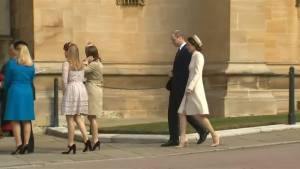 Prince William, Kate join Queen Elizabeth II for Easter service