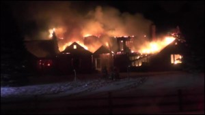 Fire destroys country home near Peterborough