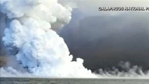 Massive volcano erupts in the Galápagos Islands
