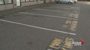 Removal of wheelchair accessible parking spot from Surrey strip mall raises safety concerns.