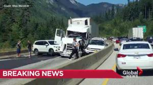 7 people taken to hospital in multi car accident on Coquihalla