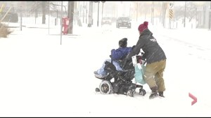 Videographers help Peterborough woman in wheelchair stuck in snow