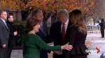 President and Melania Trump visit George and Laura Bush at Blair House