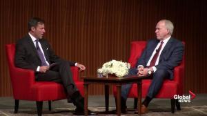 "`Said by Donald who?"": John Brennan takes aim at Trump after bomb attempts"