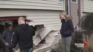 Family home hit by truck in Cloverdale
