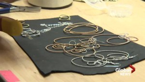 Edmonton designer uses retired instrument strings to make jewelry