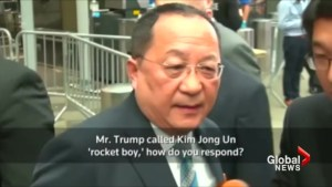 North Korea's foreign minister calls Trump speech 'dog barking'
