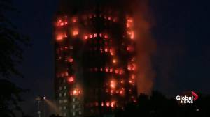 Massive fire engulfs London apartment block