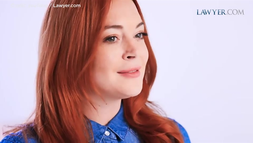 Lindsay Lohan Pivots To Law As The Face Of Lawyer.com