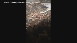 Ariana Grande concertgoers flee following explosion at Manchester Arena