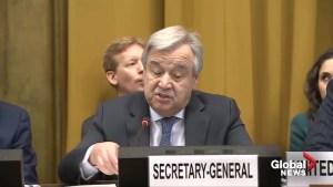 UN Secretary-General calls on U.S., Russia to preserve nuclear treaty