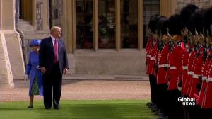 Trump breaks royal etiquette, walks in front of Queen