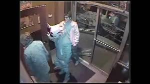 Video Surveillance shows murder suspect at local restaurant (01:07)