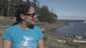 Jill Yoneda attempts marathon swim across Georgia Strait