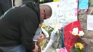 Toronto van attack: Father visits memorial with son, says 'it makes me want to hold my boy even closer'