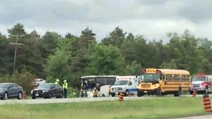 Dozens injured in major bus crash south of Ottawa