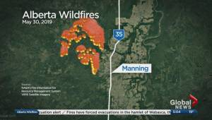 Manning put on evacuation alert because of wildfire threat
