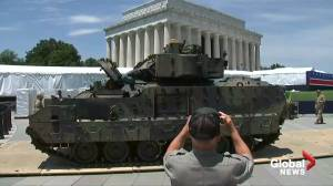Tanks move into place for Trump's July 4th celebration