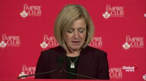 Notley talks merits of pipeline construction during Empire Club speech